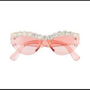 diamond crystal glitter pink sunglasses new nib